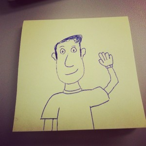 A Post-it of the Artist as a Young Man